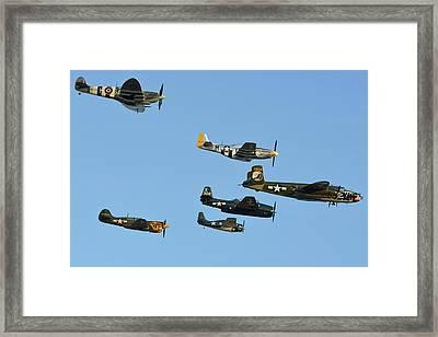 Texas Flying Legends Chino California April 29 2016 Framed Print by Brian Lockett