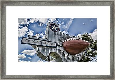 Texas Football Framed Print by Stephen Stookey