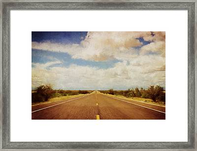 Texas Highway Framed Print by Scott Norris