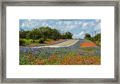 Texas Highways Framed Print