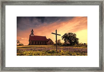 Texas Hill Country Sunset Framed Print by Stephen Stookey