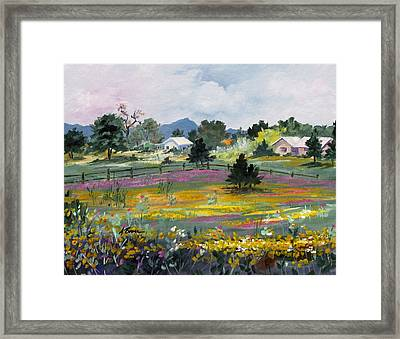 Texas Hillcountry Flowers Framed Print