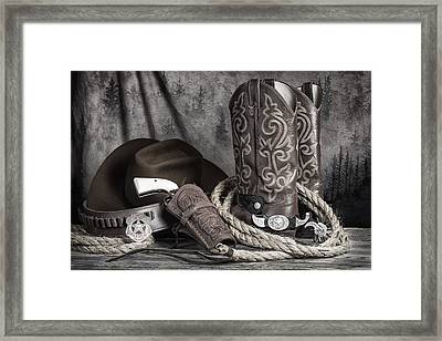 Texas Lawman Framed Print by Tom Mc Nemar