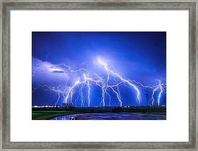 Texas Light Show Framed Print
