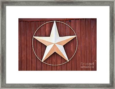 Texas Lone Star Framed Print by Ray Shrewsberry