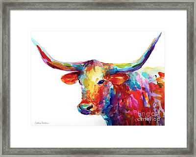 Texas Longhorn Art Framed Print