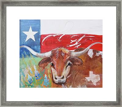 Texas Longhorn Framed Print