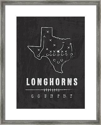 Texas Longhorns Country Framed Print by Damon Gray