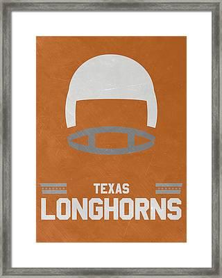 Texas Longhorns Vintage Football Art Framed Print