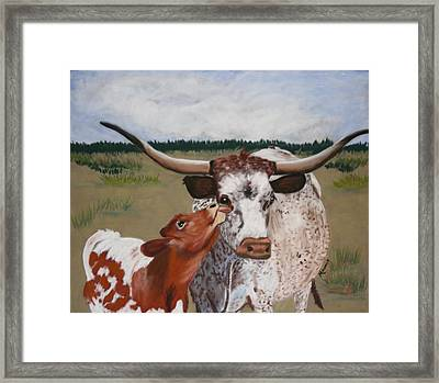 Texas Love Framed Print by Michele Turney