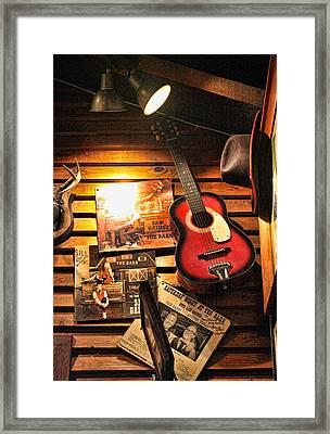 Texas Memorabilia Collection Framed Print by Linda Phelps