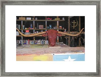 Texas Monster Longhorn Framed Print by Michael Pasko