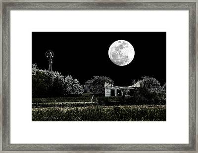 Texas Moon Framed Print by Travis Burgess