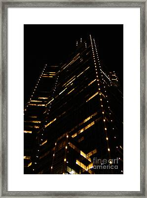 Texas Night Framed Print by Linda Shafer