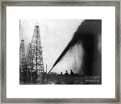 Texas: Oil Derrick, C1901 Framed Print by Granger