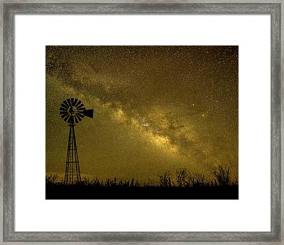 Texas Panhandle Milky Way Framed Print