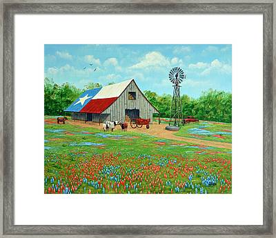Texas Ranch Barn Framed Print
