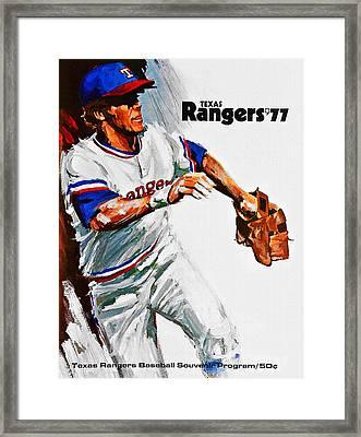 Texas Rangers 1977 Program Framed Print by Big 88 Artworks