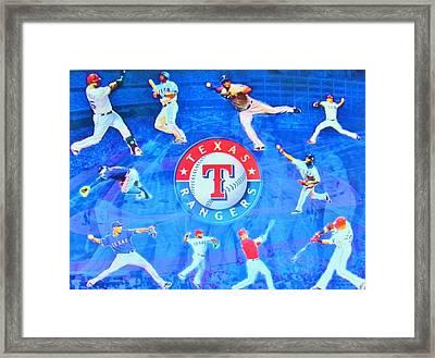 Texas Rangers 2015 Framed Print by Donna Wilson