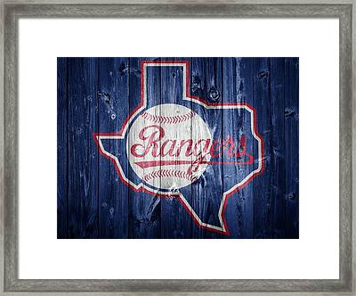 Texas Rangers Barn Door Framed Print by Dan Sproul