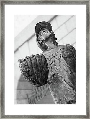 Texas Rangers Little Boy Statue Framed Print