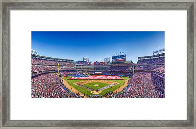 Texas Rangers Opening Day 2016 Framed Print by Stephen Stookey