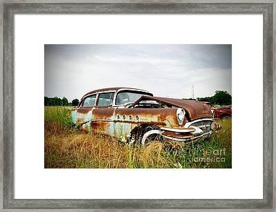 Texas Roadside Car Framed Print by Chris Andruskiewicz