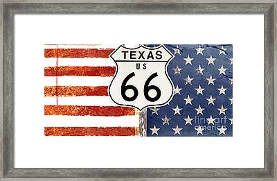 Texas Route 66 Framed Print by Mindy Sommers