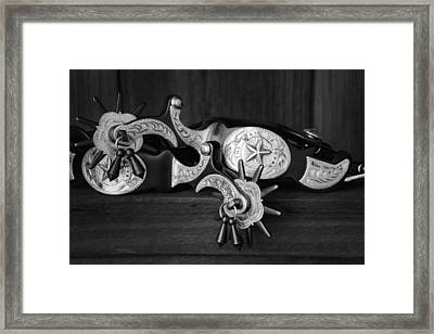 Texas Spurs Framed Print by Tom Mc Nemar