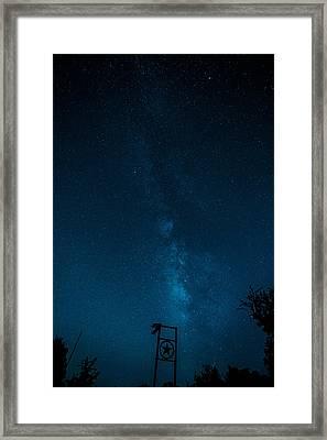 Texas Stars Framed Print