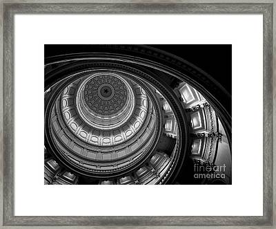 Texas State Capital Dome Austin  Framed Print by Edward Fielding