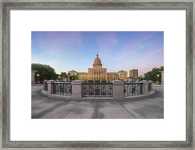 Texas State Capitol Pastel Sunrise 1 Framed Print