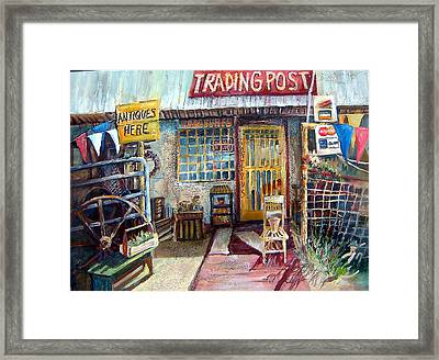 Texas Store Front Framed Print