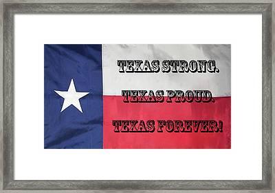 Texas Strong Framed Print