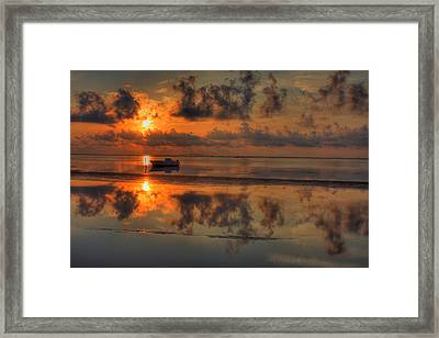 Texas Sunset Gulf Of Mexico Framed Print by Kevin Hill