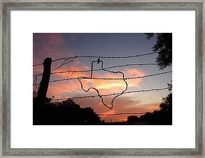 Texas Sunset Framed Print