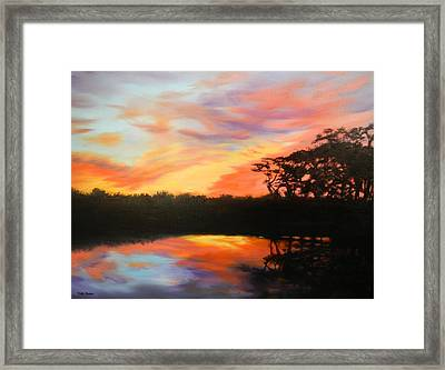 Texas Sunset Silhouette Framed Print by Patti Gordon