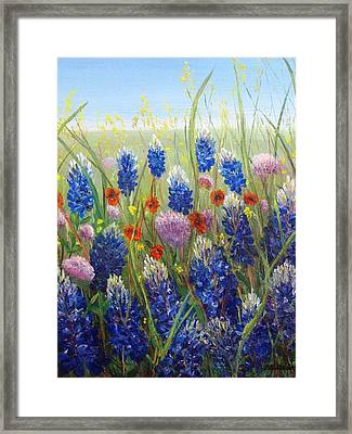 Texas Tangle Framed Print by Patti Gordon