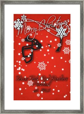 Texas Tech Red Raiders Christmas Card Framed Print by Joe Hamilton