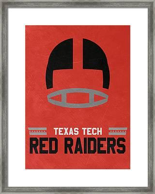 Texas Tech Red Raiders Vintage Football Art Framed Print