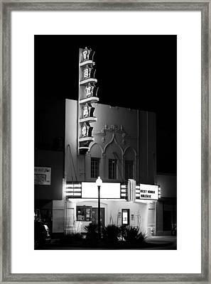 Texas Theater Oak Cliff Bw Framed Print