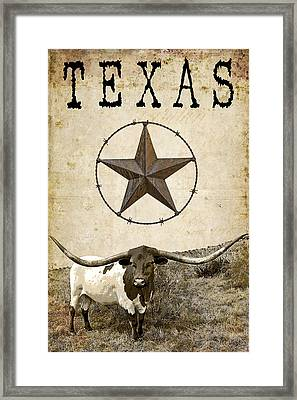 Texas Tough Framed Print