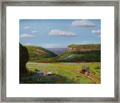 Framed Print featuring the painting Texas Travelers by Gene Gregory