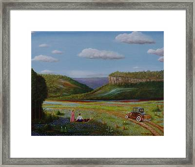 Framed Print featuring the painting Texas Travelers Giclee by Gene Gregory