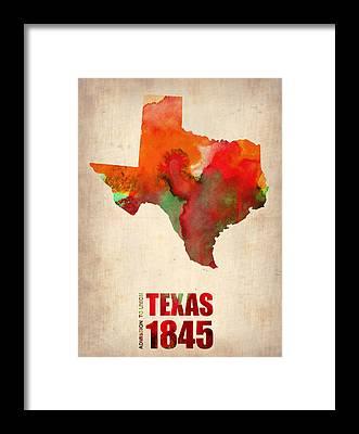 Texas Framed Prints