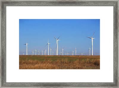 Texas Wind Farm Framed Print