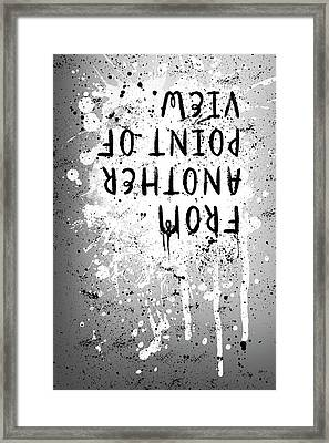 Text Art From Another Point Of View - Splashes Framed Print