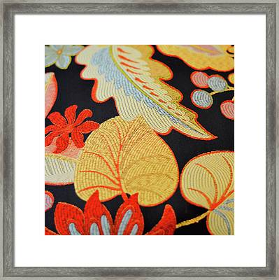 Textile Framed Print by JAMART Photography