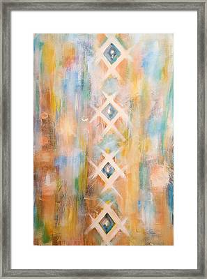 Textile  Framed Print by Pia Tohveri