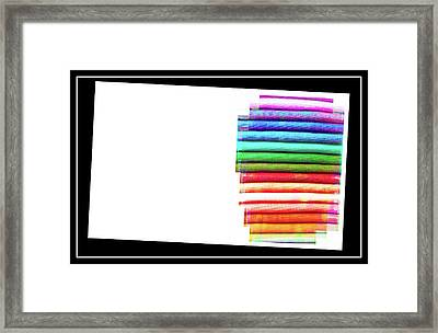 Textiles Business Card Template Framed Print by Tom Gowanlock